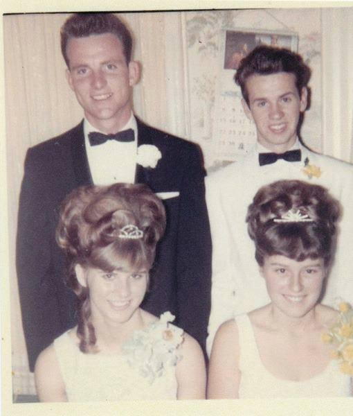 Robt House,  Shirley Wycoff,  Robt Houck, Linda House,  class of 1966