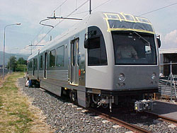 breda2 rail car on test track