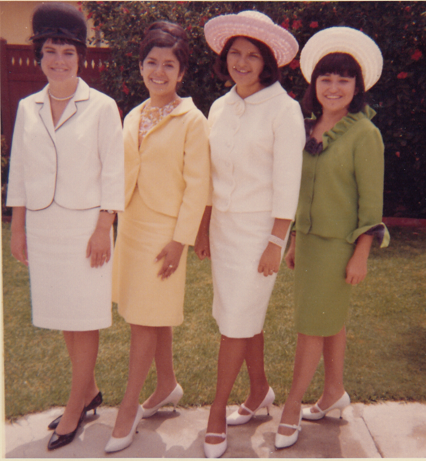 Some of the Majorettes: L-R:  Jackie Oliver, Arline Radillo, Beverly Blevins, and Lynn Madrid