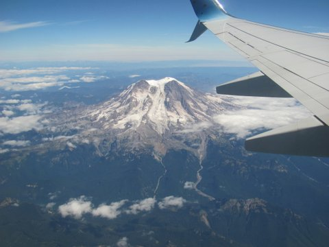 Nanci Herron Rowe flies over mountains of Washington state and waves goodbye to husband Tom.