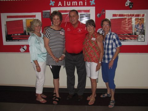 Cathy, Barbara, Principal Jeff Bishop, Marcia, Nanci