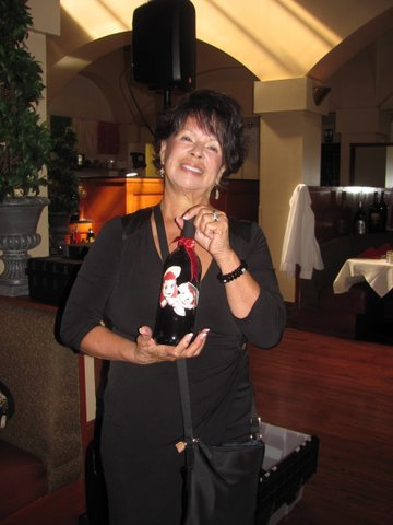 Celia Montano Ursua has prepared SAHS decorated wine bottles for a lucky few!