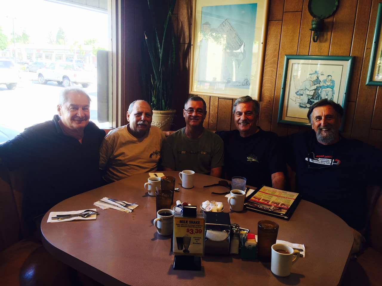 Breakfast:  Dale Deckert, Brian Mucciaccio,  Mark Angell, Dennis Hill, Doug King